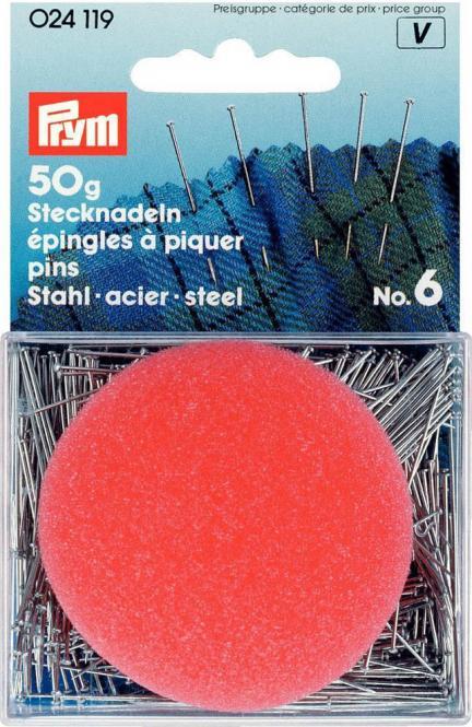 Großhandel Stecknadeln ST 0,60 x 30 mm silberfarbig m. Kiss.