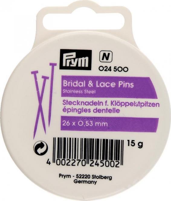 Großhandel Klöppel-Stecknadeln V2A 0,53 x 26 mm silberfarbig