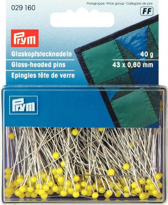 Großhandel Glaskopfnadeln ST 0,60 x 43 mm gelb
