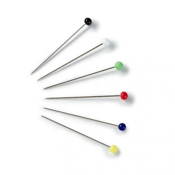 Wholesale Glass-headed pin 30x0.60 si-col col  10g