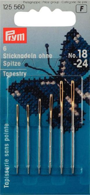 Großhandel Sticknadeln ohne Sp. ST 18-24 silberfarbig/goldfarbig