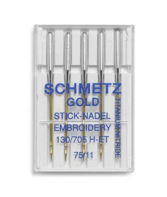 Wholesale sewing machine needle gold embroider H-ET 75+90