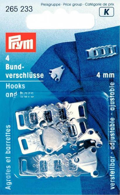 Großhandel Rock- und Hosenbundverschlüsse ST 4 mm silberfarbig
