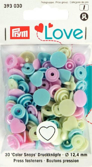 Wholesale Prym Love Color press. fast. plastic Heart