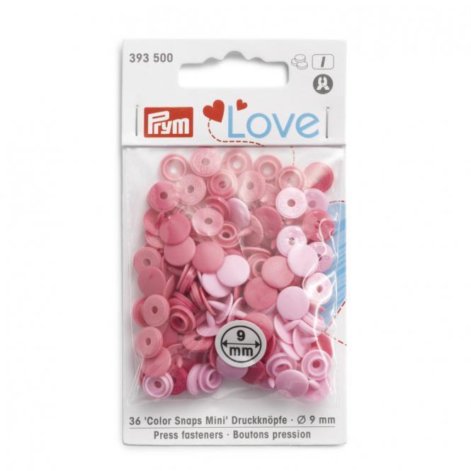 Großhandel NF Color Snaps Mini Mischpackung rosa