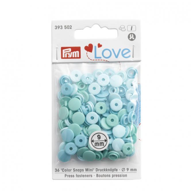 Großhandel NF Color Snaps Mini Mischpackung mint