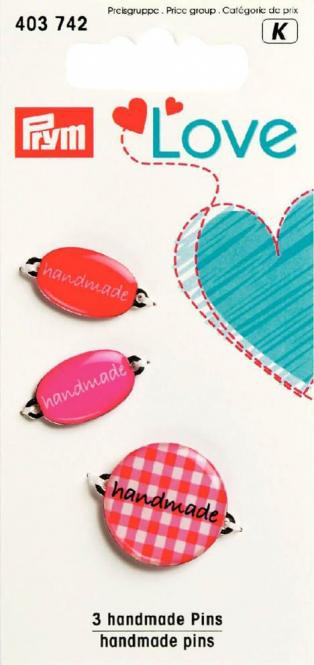 Großhandel Prym Love Handmade Label rot