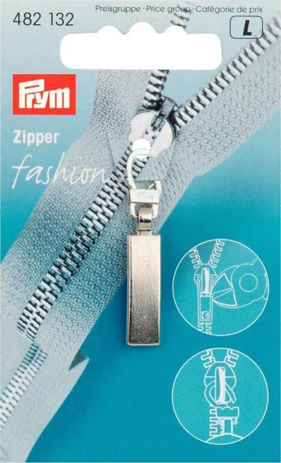 Großhandel Fashion-Zipper Classic mattsilber