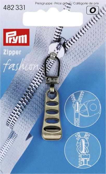 Großhandel Fashion-Zipper Leiter altmessing