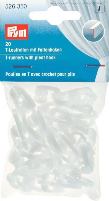 Großhandel T-Laufrollen mit Faltenhaken weiß