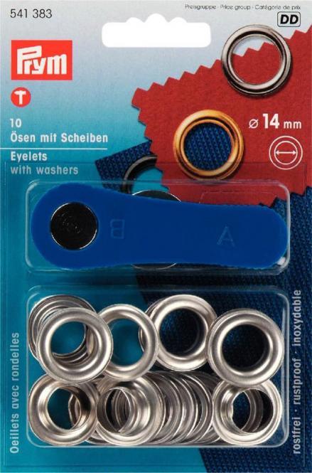 Großhandel Ösen und Scheiben MS 14,0 mm silberfarbig
