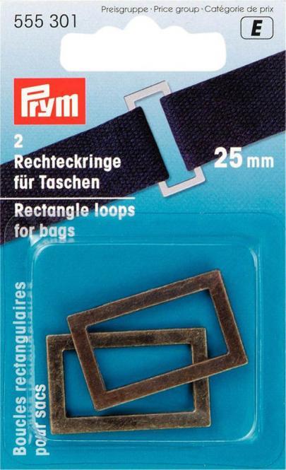 Großhandel Rechteckringe für Taschen 25 mm altmessing