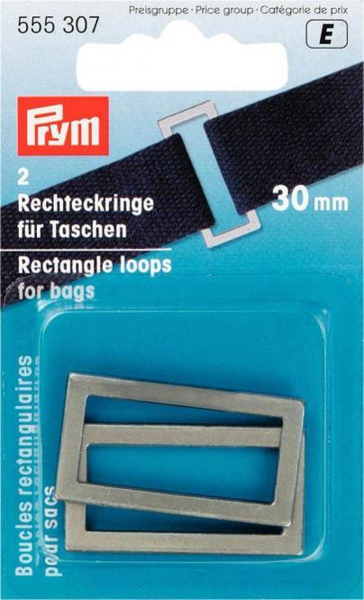 Großhandel Rechteckringe für Taschen 30 mm altsilber