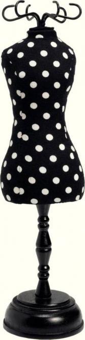 Großhandel Nadelkissen Design Büste Polka Dot schwarz/weiß