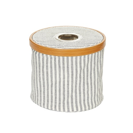 Wholesale Wool dispenser Canvas & Bamboo foldable grey