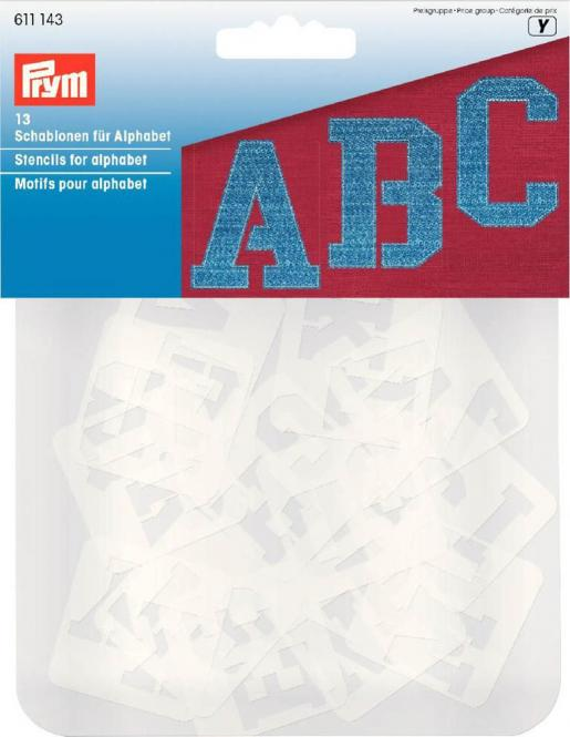 Wholesale Stencils for alphabet 13 pc ass.