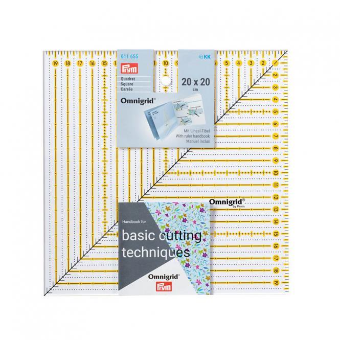 Großhandel Patchwork-Lineal Square 20x20cm Omnigrid