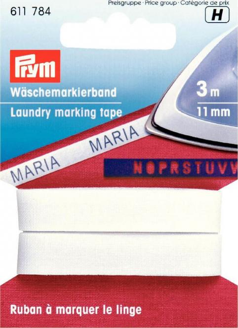 Wholesale Laundry mark tape co 11mm iron-on wht 3m