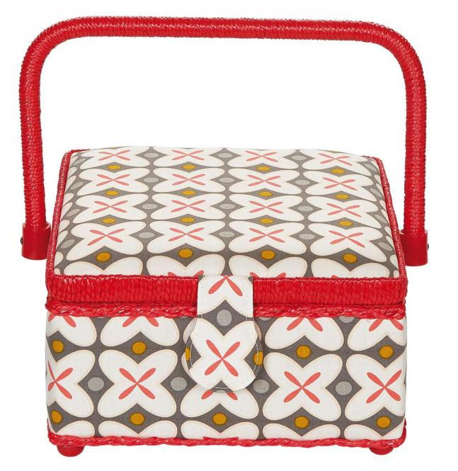 Wholesale sewing basket M Retro red