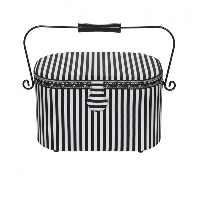 Wholesale sewing basket L Stripes classic