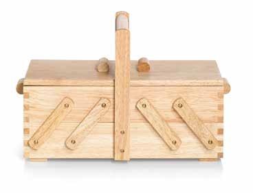 Großhandel Nähkasten Holz hell S