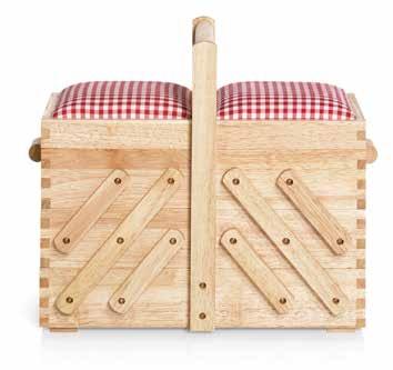 Großhandel Nähkasten Holz hell M mit Stoff