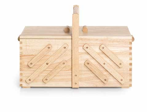Großhandel Nähkasten Holz hell L