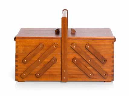 Großhandel Nähkasten Holz dunkel L