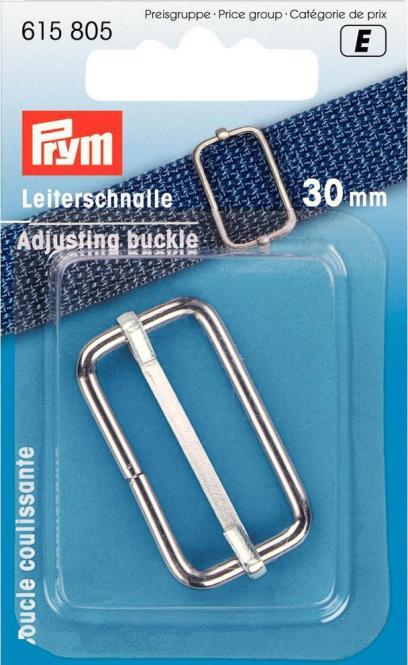 Großhandel Leiterschnalle 30 mm silber