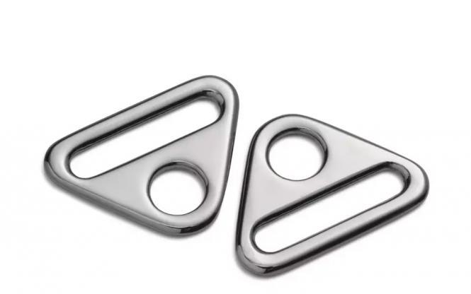 Großhandel Triangel-Ringe mit Steg 25 mm silberfarbig