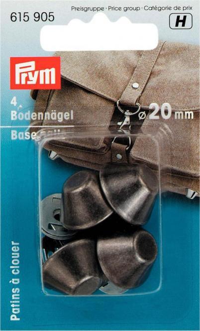 Großhandel Bodennägel für Taschen 20 mm altsilber