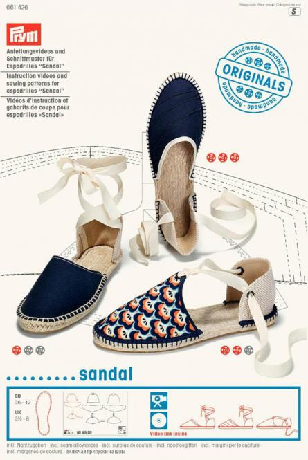 Großhandel Anleitungsvideo & Schnittmuster Espadrilles sandal