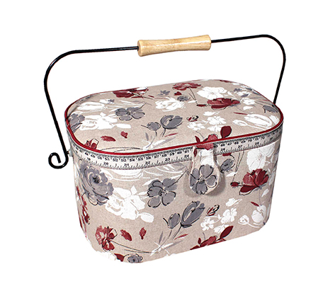 Wholesale sewing basket watercolor flowers