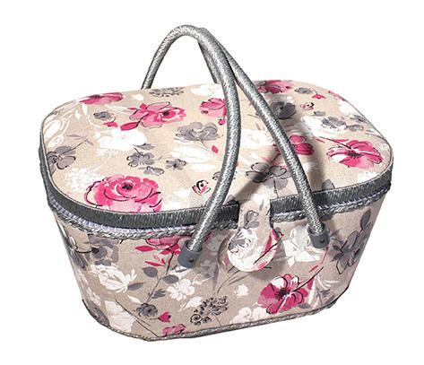 Wholesale sewing basket watercolor flowers