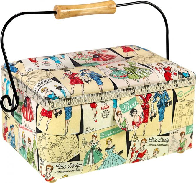 Wholesale Sewing Basket Cotton Vintage Pattern
