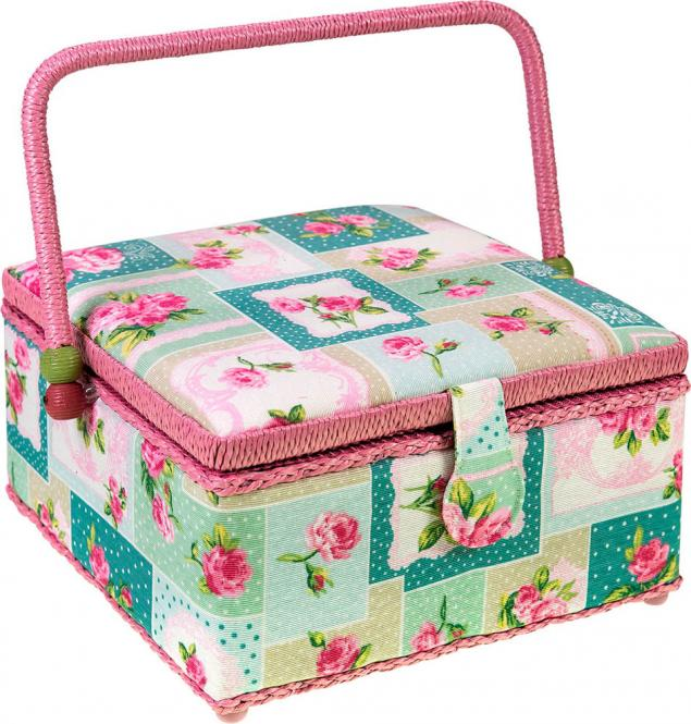 Wholesale Sewing Basket Cotton Patchwork Flowers