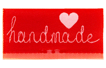 Wholesale Label Center Fold to Sew on Handmade
