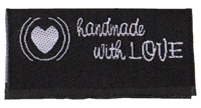 Großhandel Applikation handmade with love, Mittelfaltung