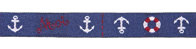 Wholesale woven ribbon ahoi anchor lifesaver