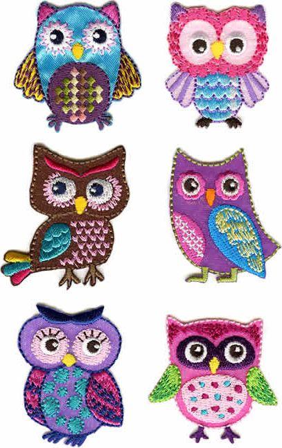 Wholesale Motif Assortment 6X1 to Iron On Owl