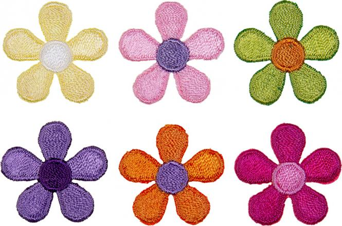 Großhandel Applikation Sort. 6x1 Blüten