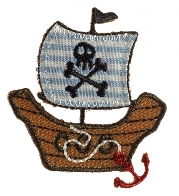 Großhandel Applikation Piratenschiff