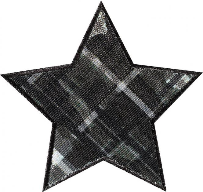 Wholesale Application iron-on Star checkered green
