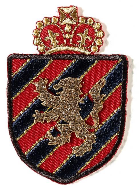 Großhandel Applikation Wappen blau/rot