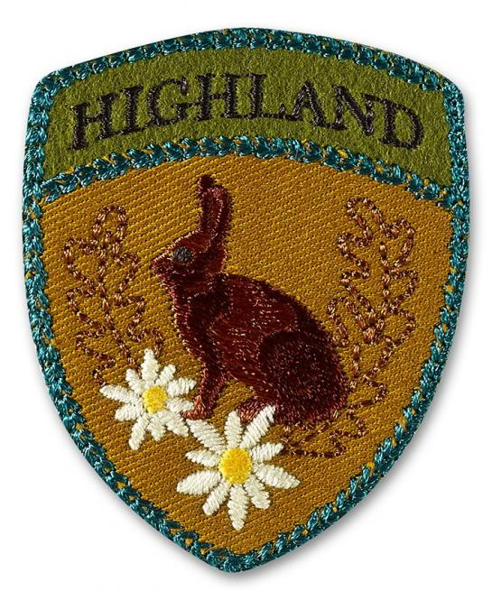 Großhandel Applikation Highland Hase