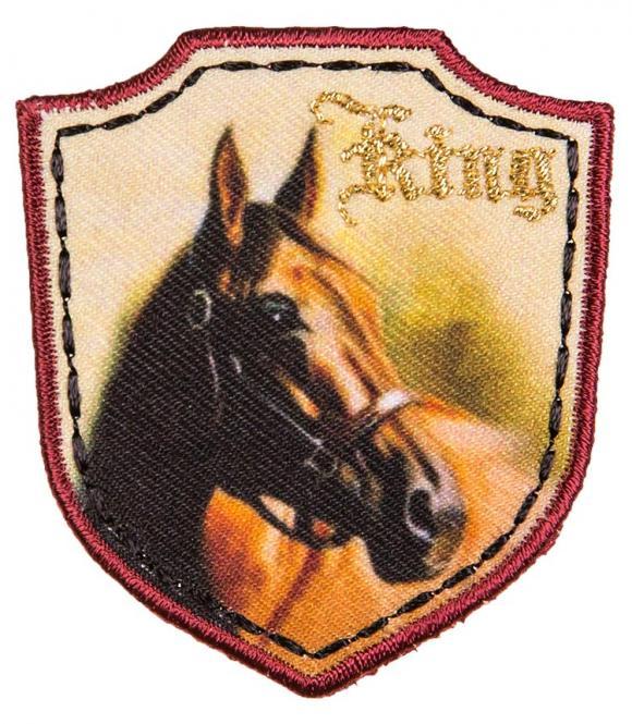 Großhandel Applikation Pferd King