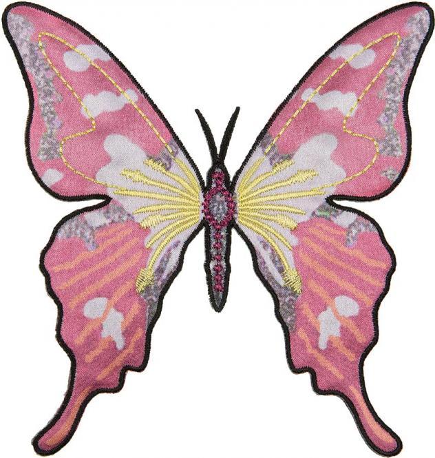 Großhandel Applikation Schmetterling rosa