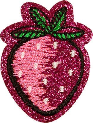 Großhandel Applikation Erdbeere glitzernd