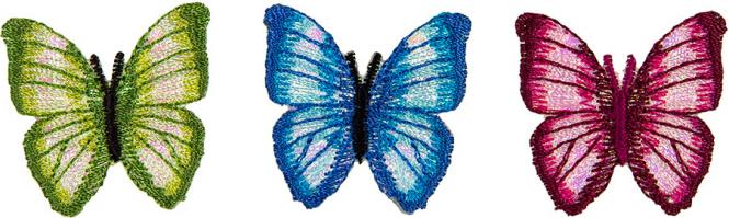 Großhandel Applikation Sort.3x2 Schmetterling