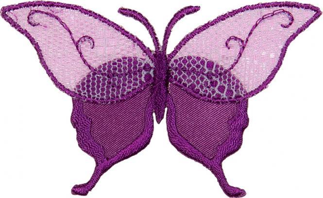 Großhandel Applikation Schmetterling Tüllspitze lila